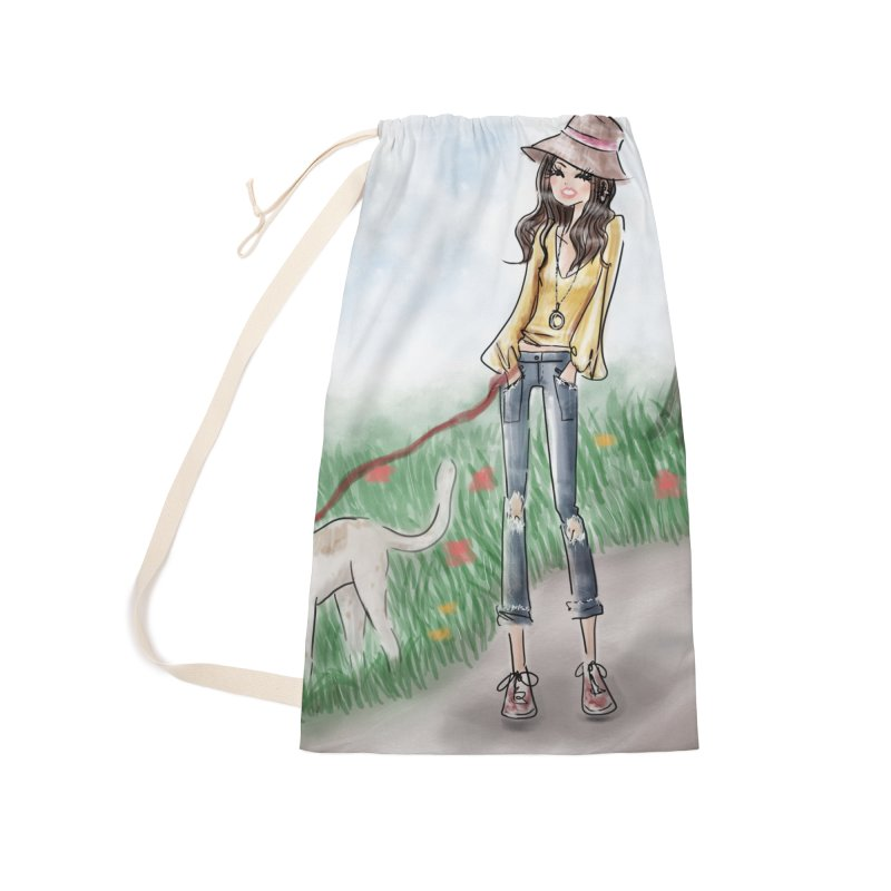 A walk in the Park Accessories Laundry Bag Bag by deannakei's Artist Shop