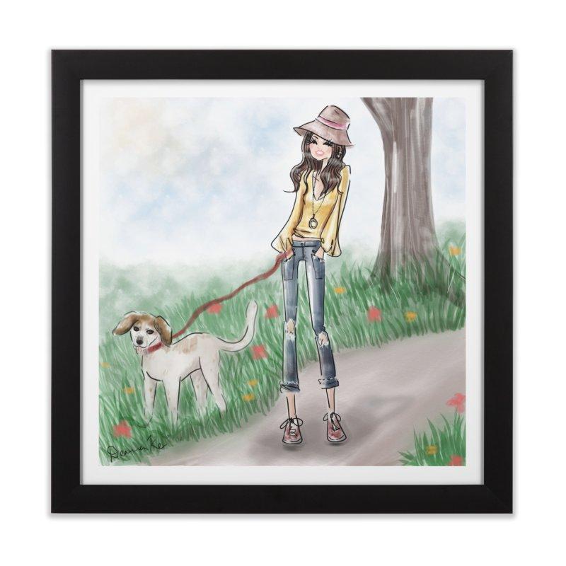 A walk in the Park Home Framed Fine Art Print by deannakei's Artist Shop