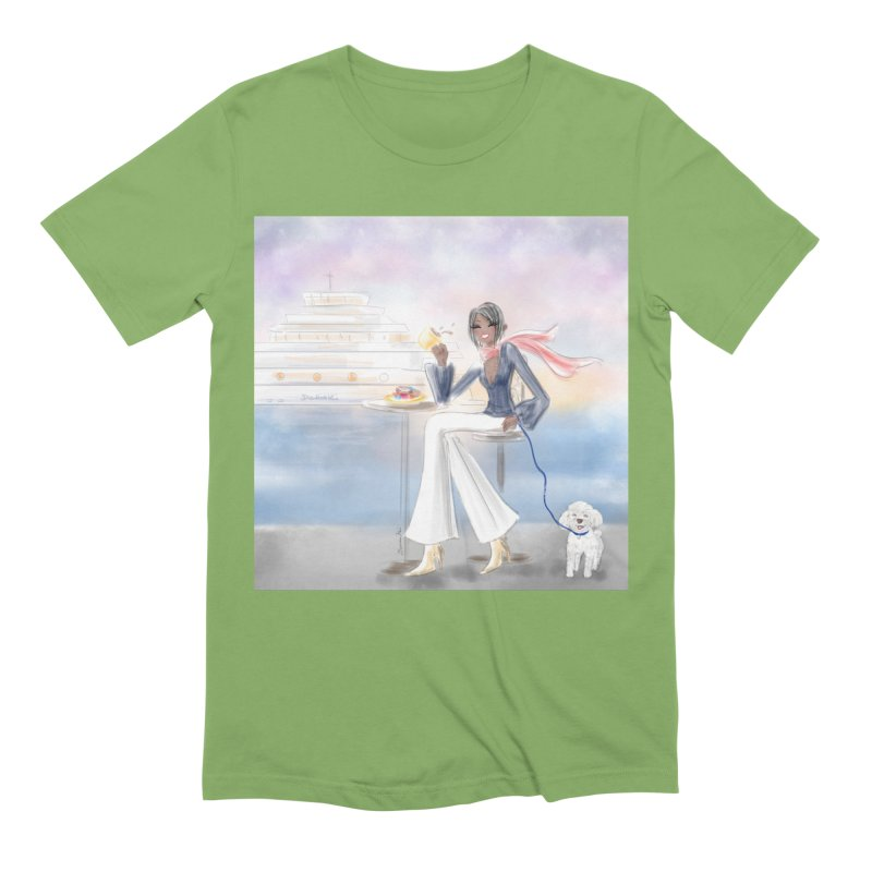 Cafe by the Sea Men's Extra Soft T-Shirt by deannakei's Artist Shop