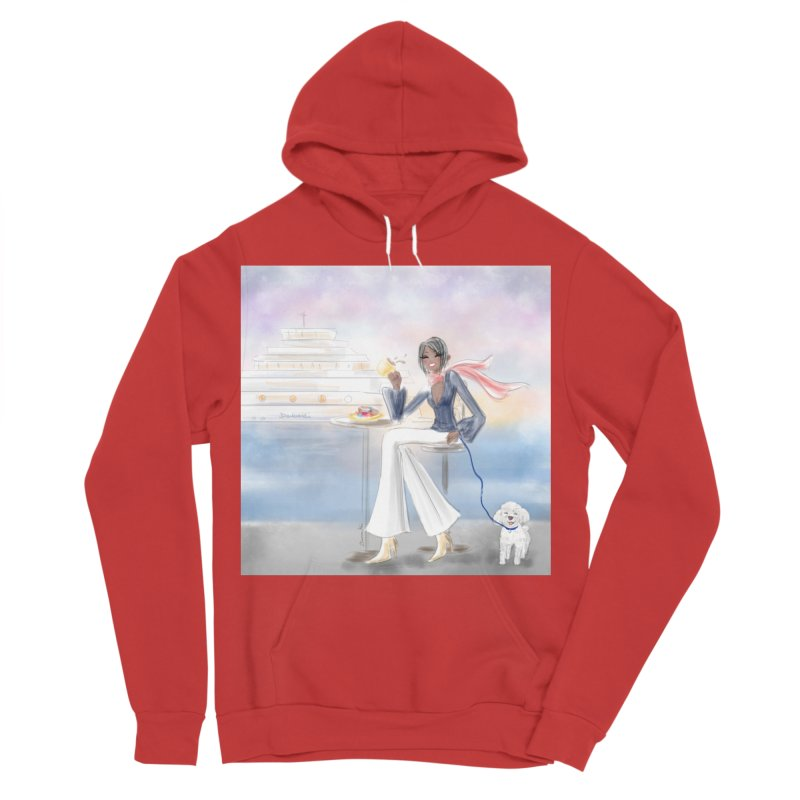 Cafe by the Sea Men's Pullover Hoody by Deanna Kei's Artist Shop