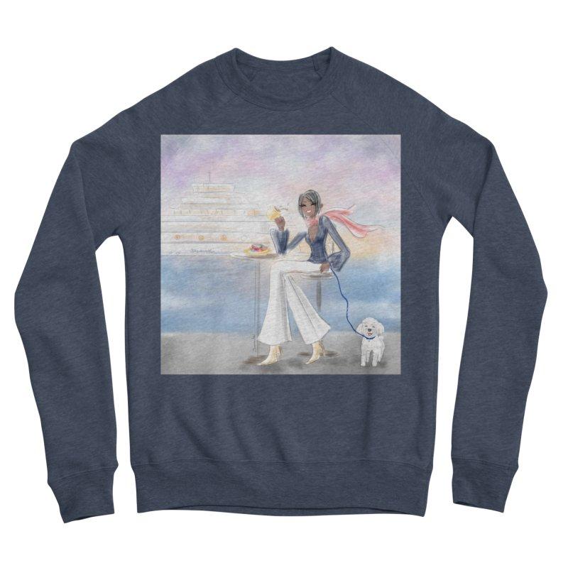 Cafe by the Sea Women's Sponge Fleece Sweatshirt by Deanna Kei's Artist Shop