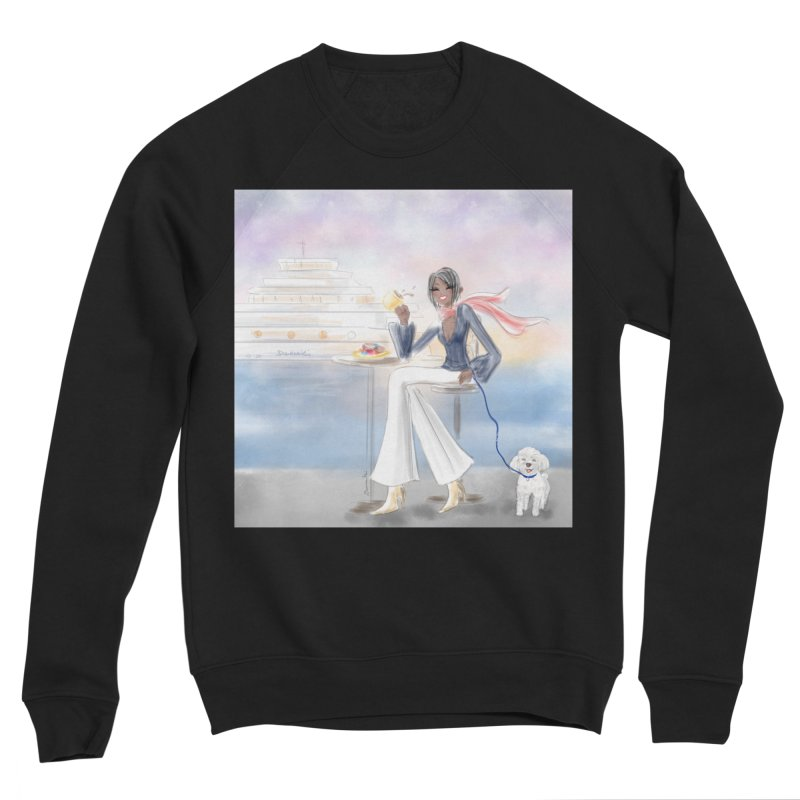 Cafe by the Sea Women's Sponge Fleece Sweatshirt by Deanna Kei's Artist Shop