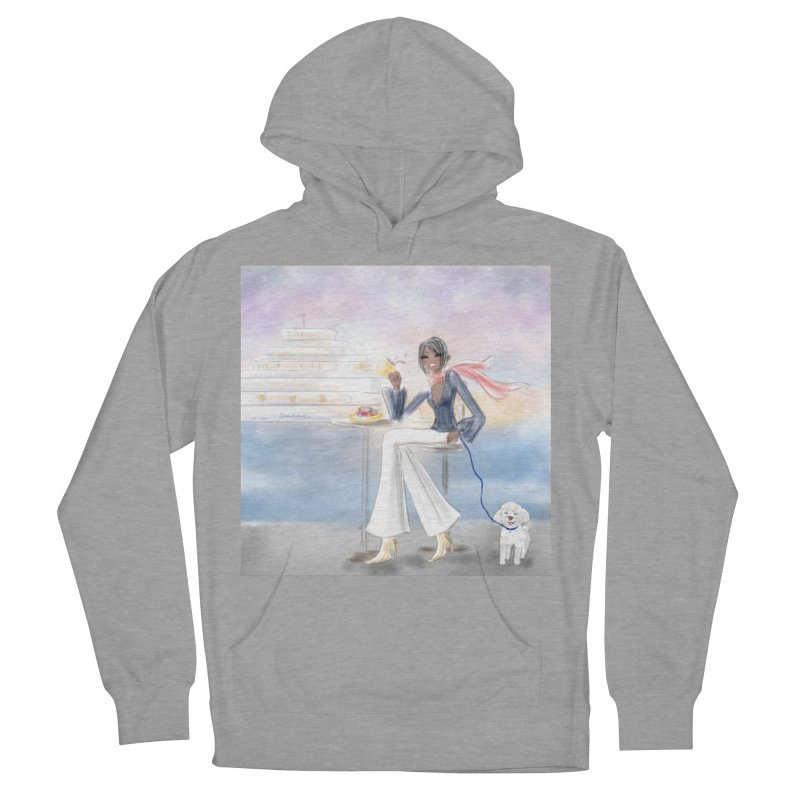 Cafe by the Sea Women's Pullover Hoody by Deanna Kei's Artist Shop