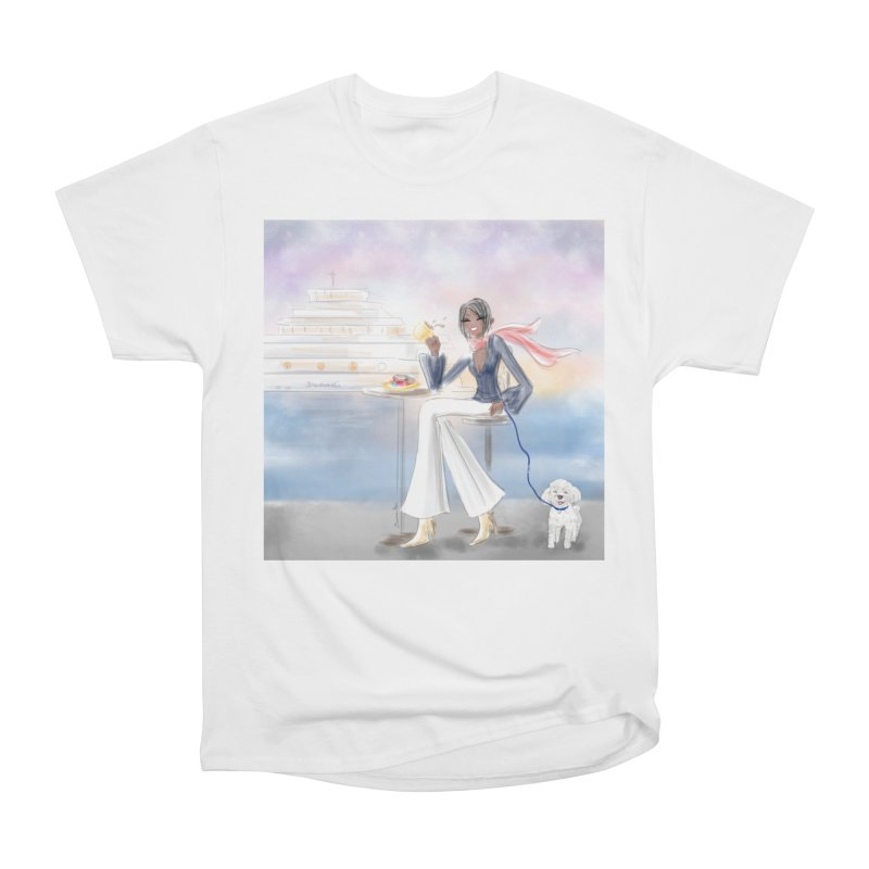 Cafe by the Sea Women's Heavyweight Unisex T-Shirt by deannakei's Artist Shop