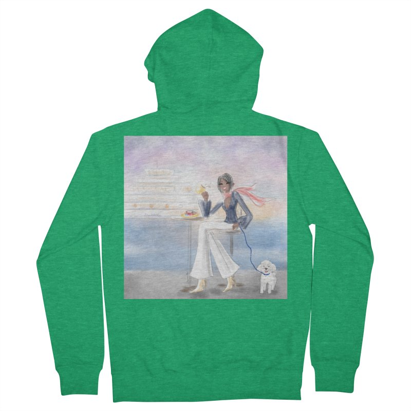 Cafe by the Sea Women's Zip-Up Hoody by Deanna Kei's Artist Shop