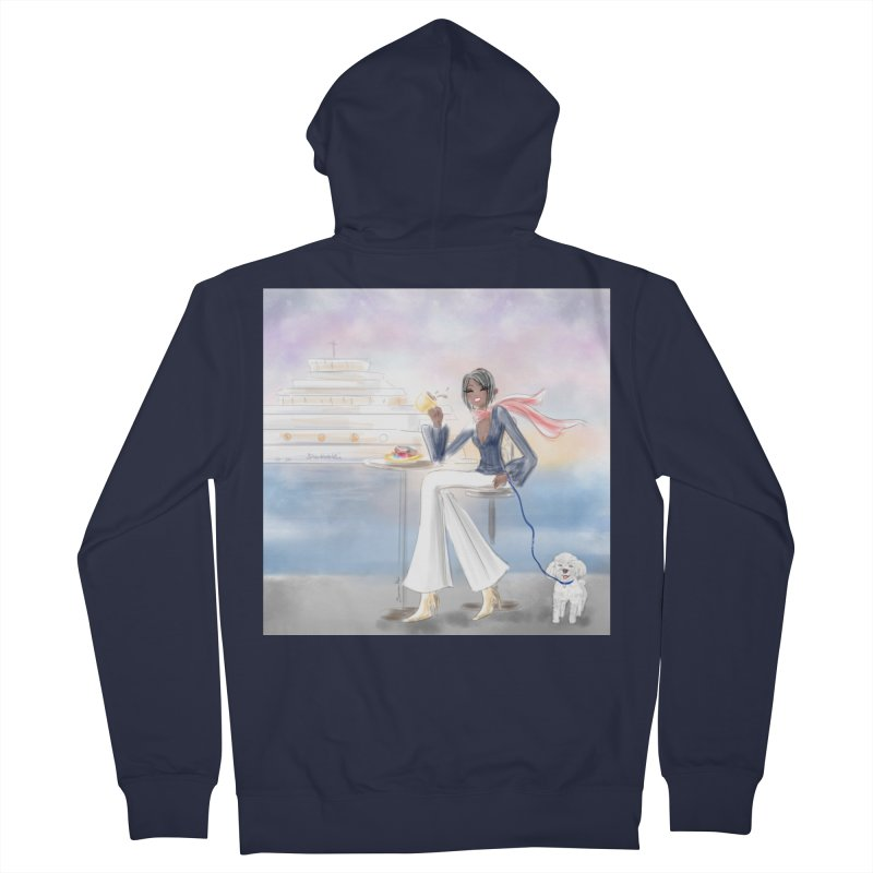 Cafe by the Sea Women's French Terry Zip-Up Hoody by Deanna Kei's Artist Shop