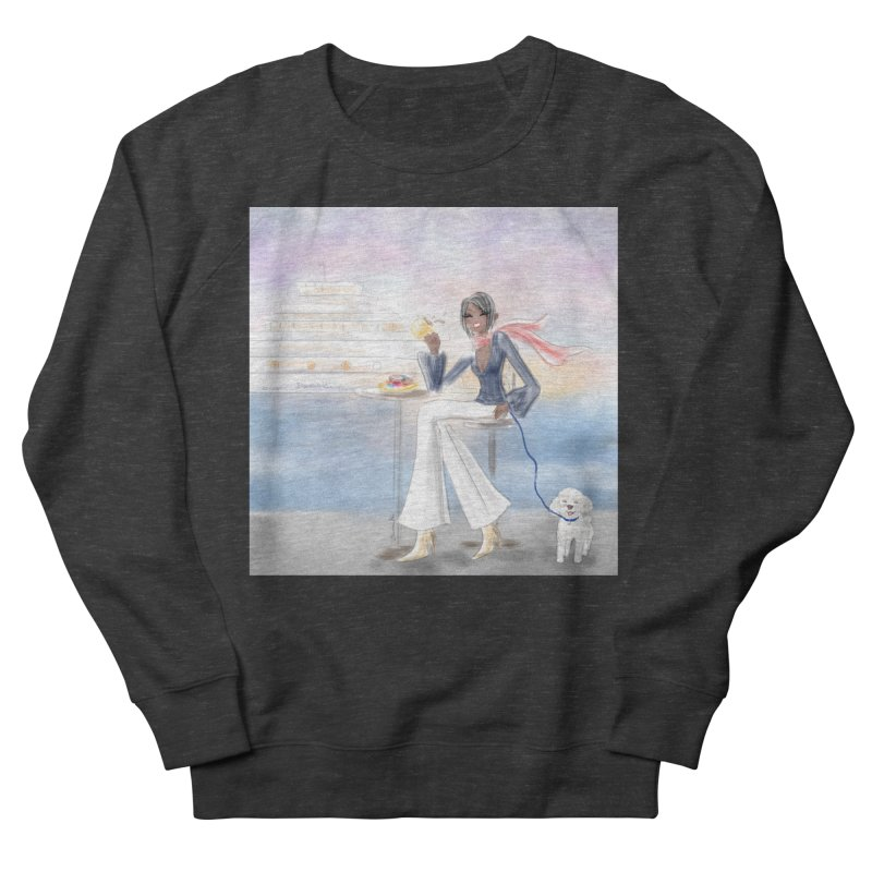 Cafe by the Sea Women's French Terry Sweatshirt by Deanna Kei's Artist Shop