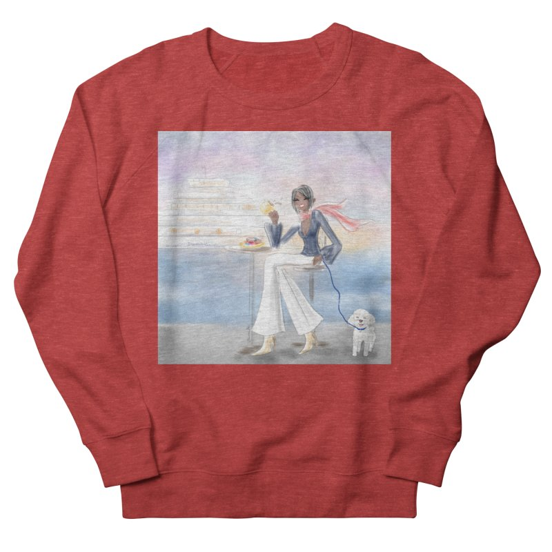 Cafe by the Sea Women's French Terry Sweatshirt by deannakei's Artist Shop