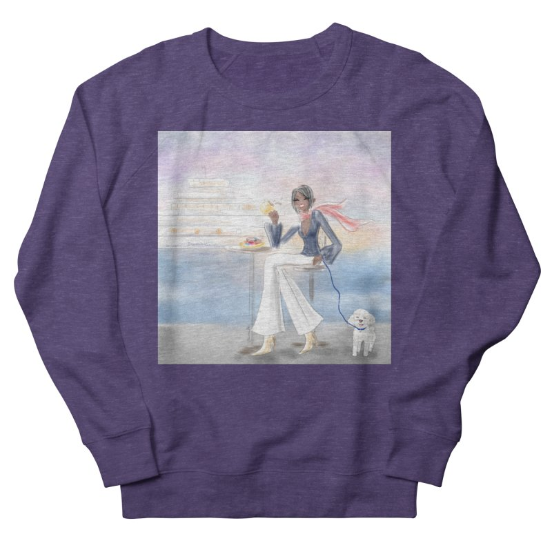 Cafe by the Sea Men's French Terry Sweatshirt by Deanna Kei's Artist Shop