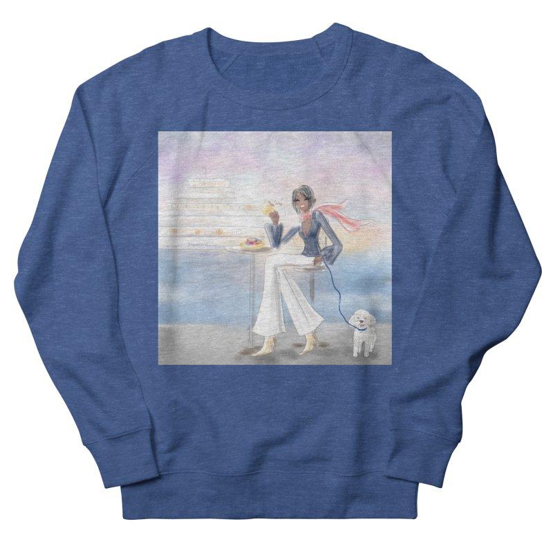 Cafe by the Sea Men's Sweatshirt by Deanna Kei's Artist Shop