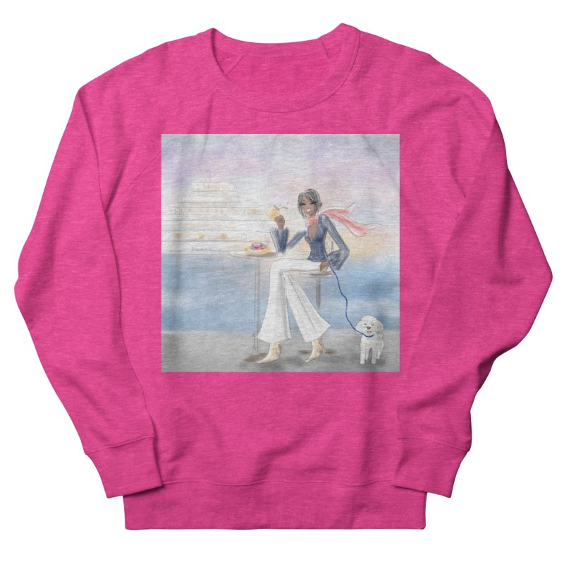 Cafe by the Sea Men's French Terry Sweatshirt by deannakei's Artist Shop
