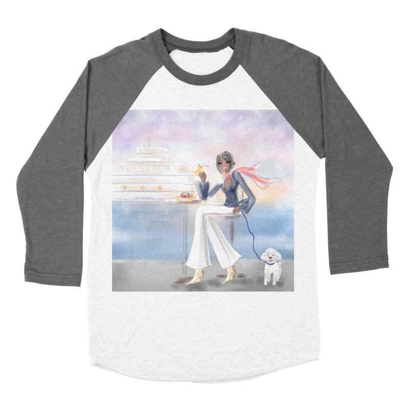 Cafe by the Sea Women's Longsleeve T-Shirt by Deanna Kei's Artist Shop