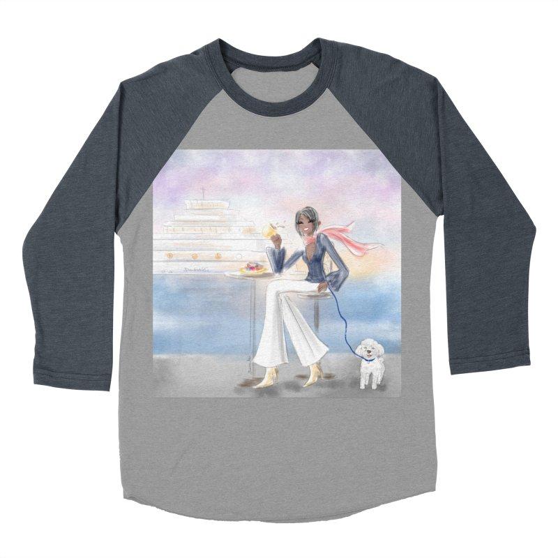 Cafe by the Sea Women's Baseball Triblend Longsleeve T-Shirt by deannakei's Artist Shop