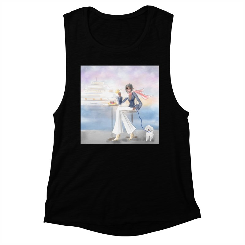 Cafe by the Sea Women's Muscle Tank by Deanna Kei's Artist Shop