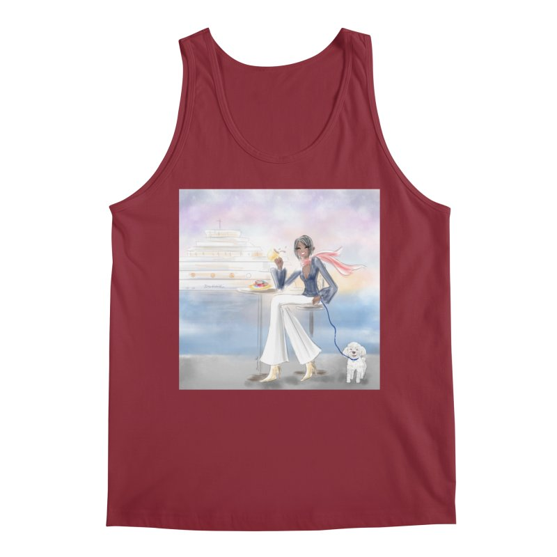 Cafe by the Sea Men's Regular Tank by Deanna Kei's Artist Shop