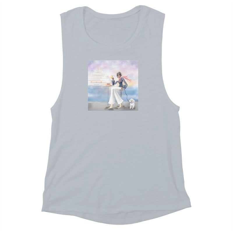 Cafe by the Sea Women's Muscle Tank by deannakei's Artist Shop