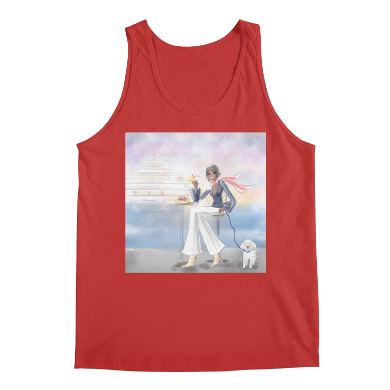 Cafe by the Sea Men's Regular Tank by deannakei's Artist Shop