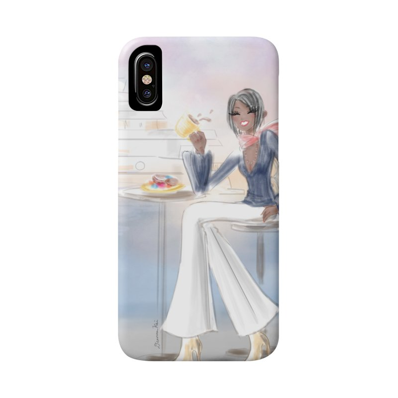 Cafe by the Sea Accessories Phone Case by deannakei's Artist Shop