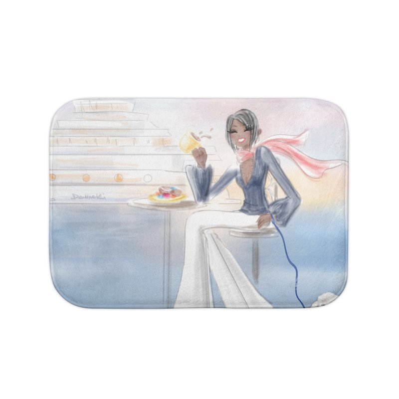 Cafe by the Sea Home Bath Mat by Deanna Kei's Artist Shop