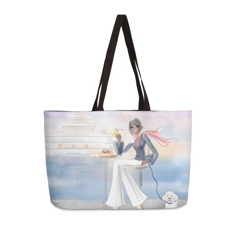 Cafe by the Sea Accessories Weekender Bag Bag by deannakei's Artist Shop