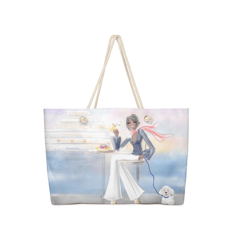 Cafe by the Sea Accessories Bag by deannakei's Artist Shop