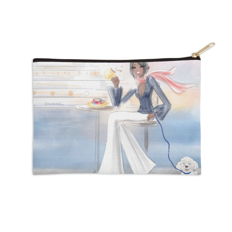 Cafe by the Sea Accessories Zip Pouch by deannakei's Artist Shop