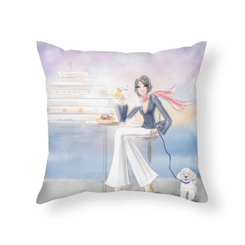 Cafe by the Sea - Home Throw Pillow by deannakei's Artist Shop