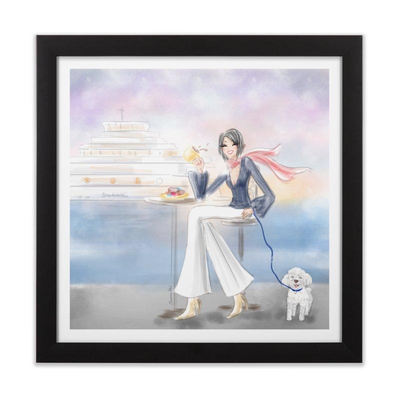Cafe by the Sea - Home Framed Fine Art Print by deannakei's Artist Shop