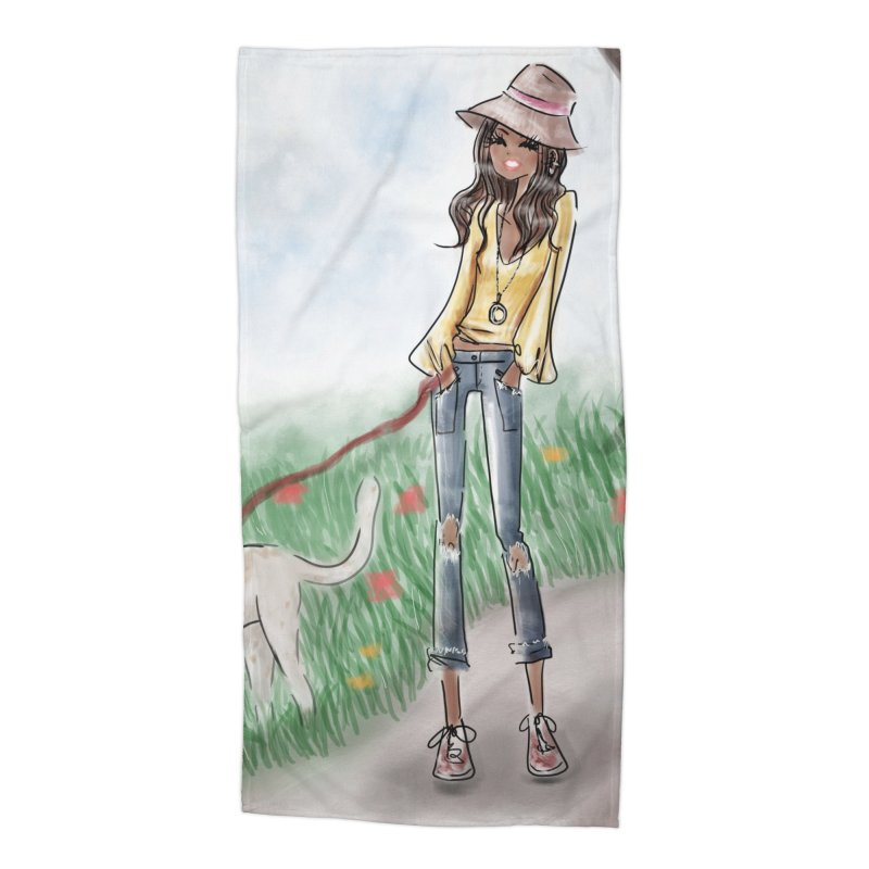 A walk in the Park Accessories Beach Towel by Deanna Kei's Artist Shop