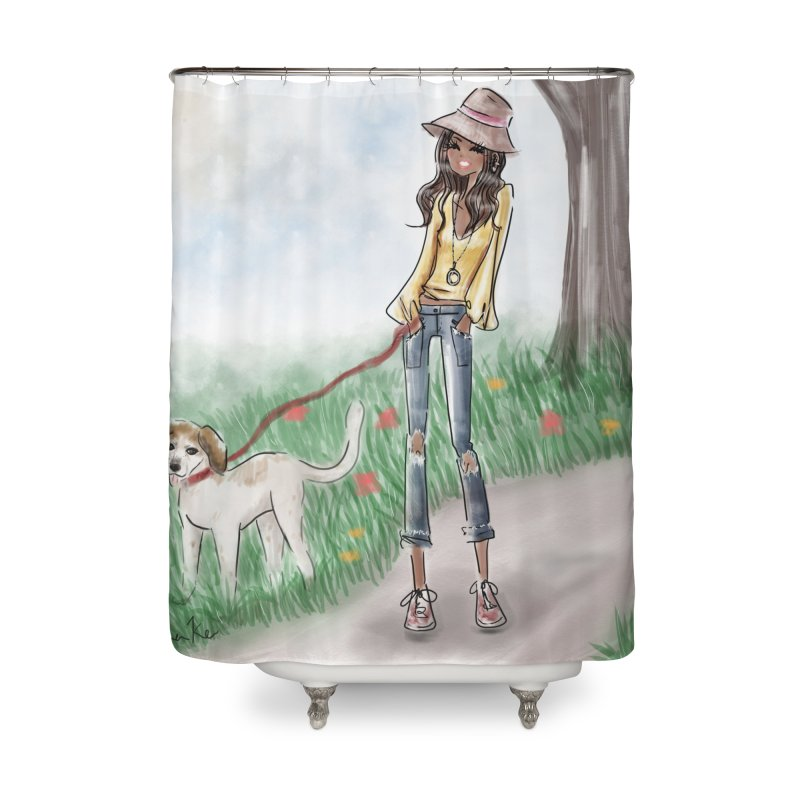 A walk in the Park Home Shower Curtain by deannakei's Artist Shop