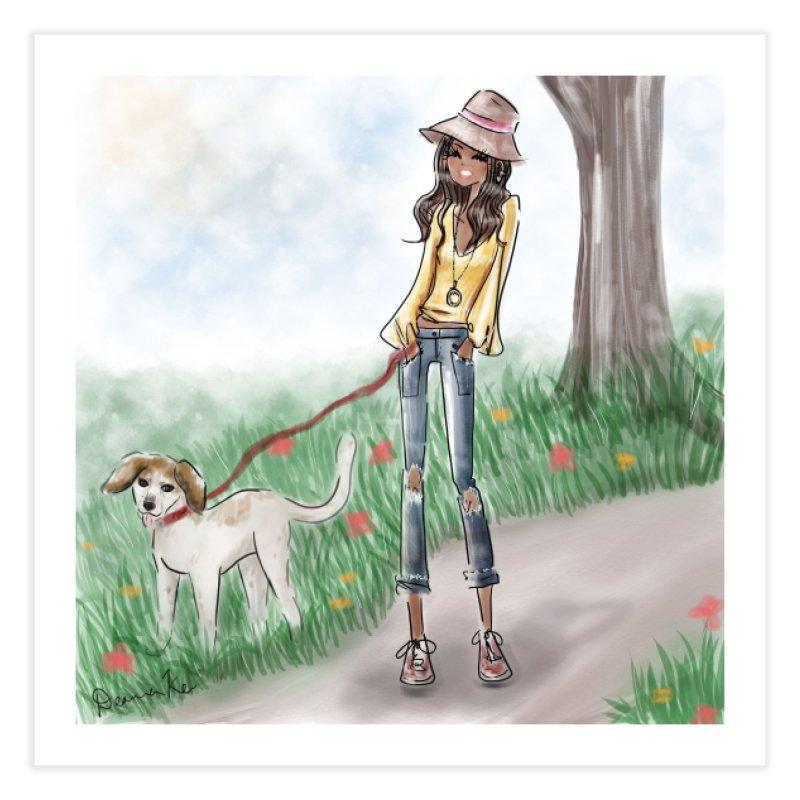 A walk in the Park Home Fine Art Print by deannakei's Artist Shop