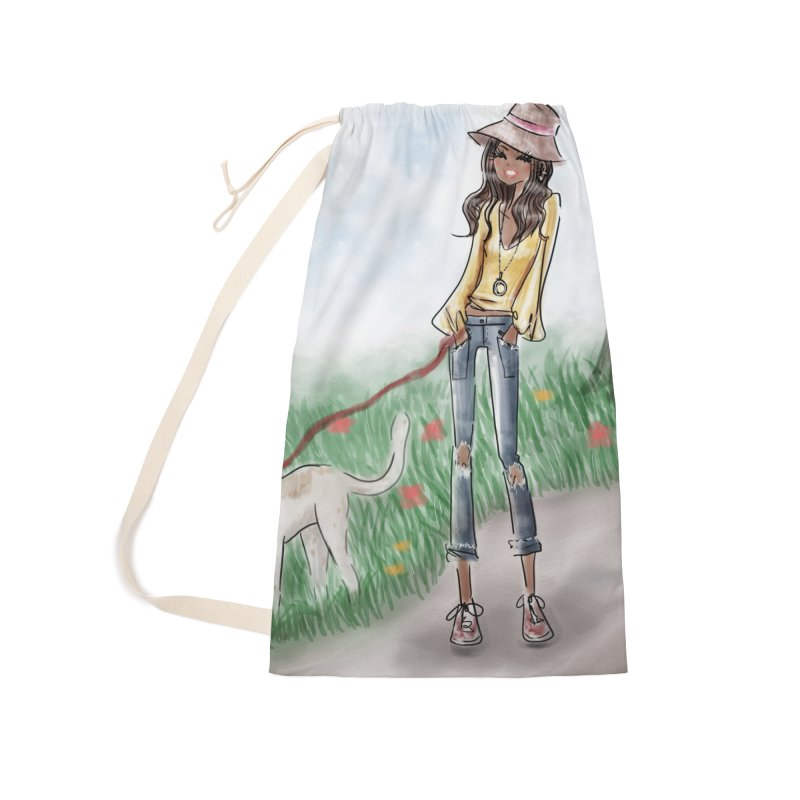 A walk in the Park Accessories Laundry Bag Bag by Deanna Kei's Artist Shop