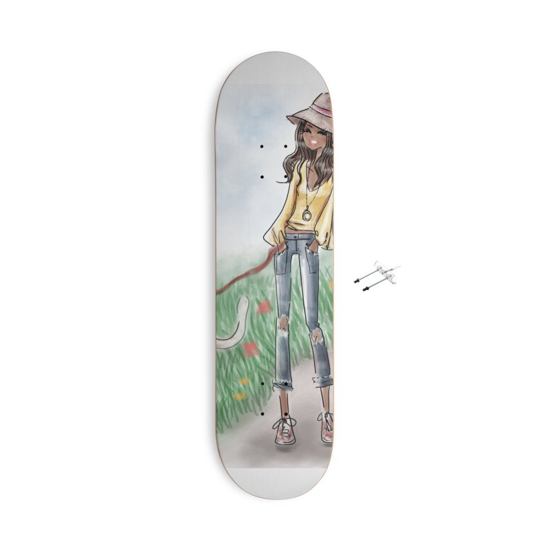 A walk in the Park Accessories With Hanging Hardware Skateboard by deannakei's Artist Shop
