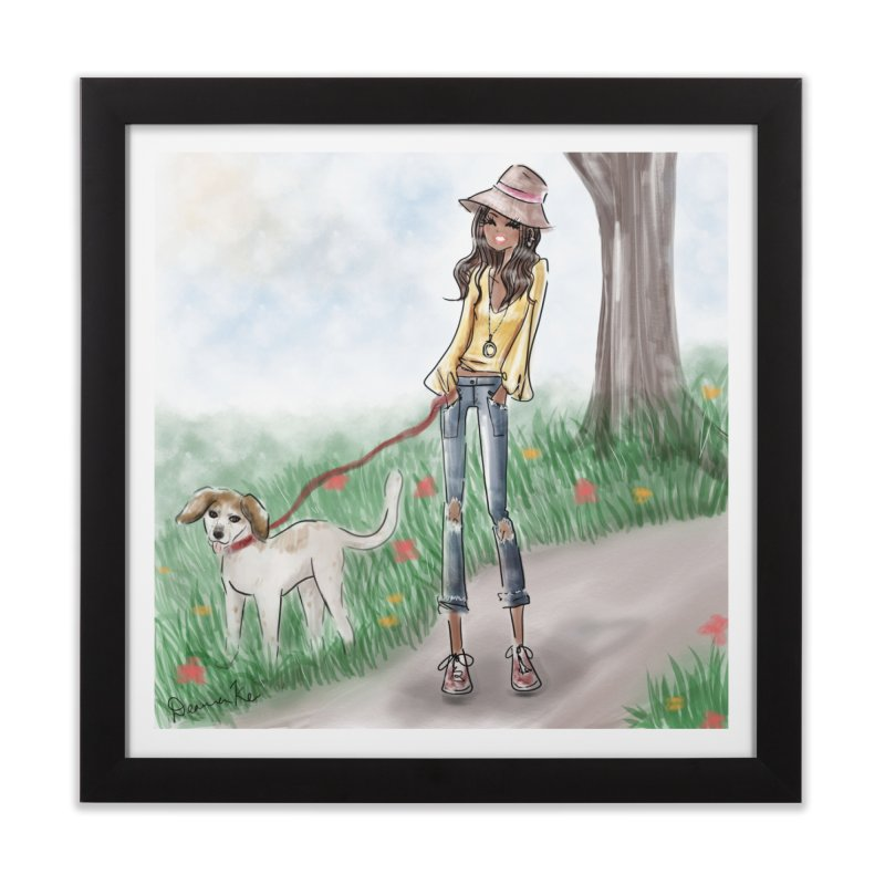 A walk in the Park Home Framed Fine Art Print by deannakei's Artist Shop