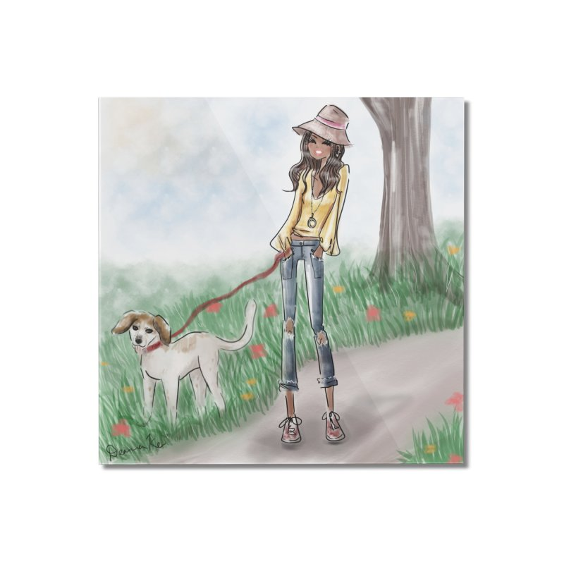 A walk in the Park Home Mounted Acrylic Print by deannakei's Artist Shop