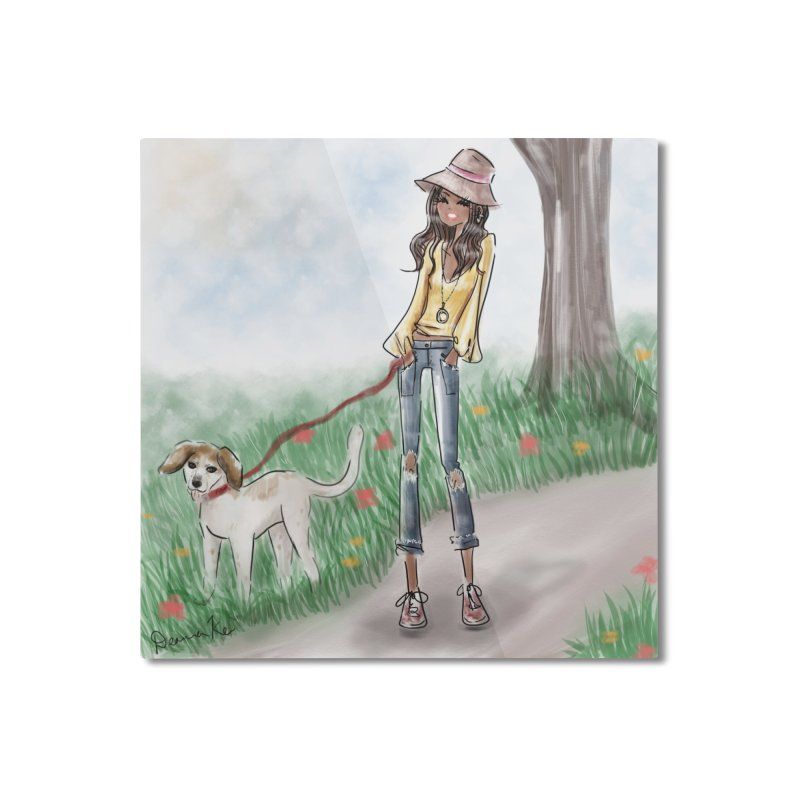 A walk in the Park Home Mounted Aluminum Print by deannakei's Artist Shop