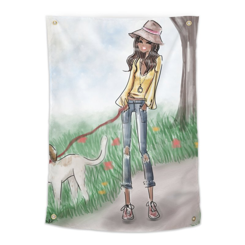 A walk in the Park Home Tapestry by deannakei's Artist Shop