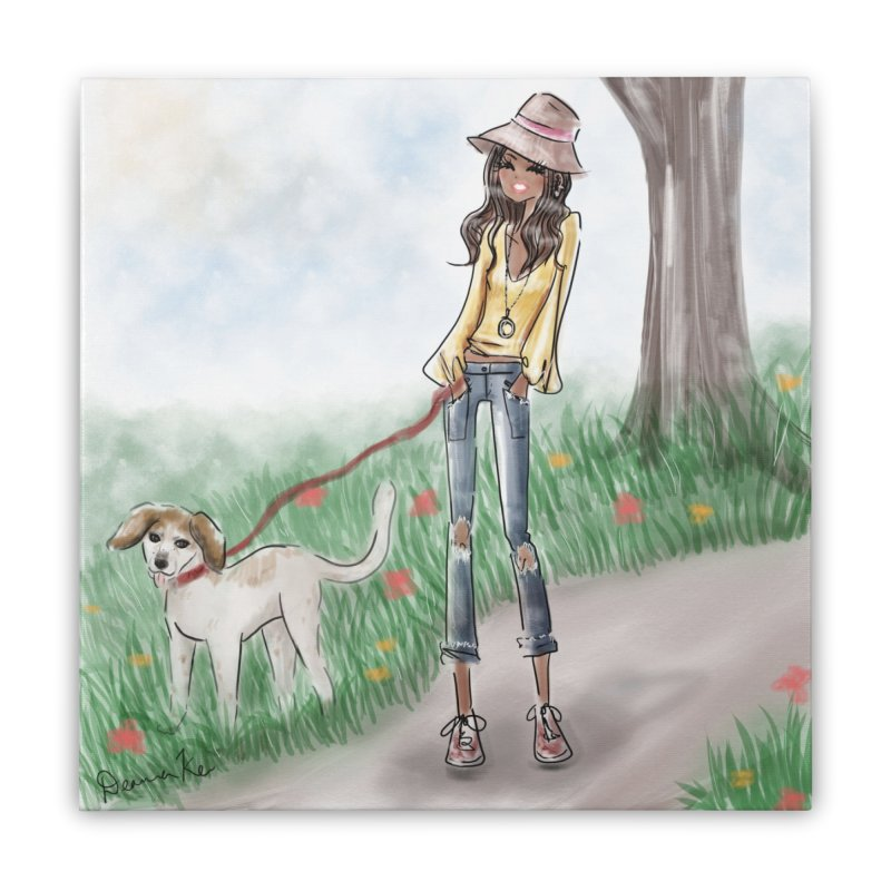 A walk in the Park Home Stretched Canvas by deannakei's Artist Shop