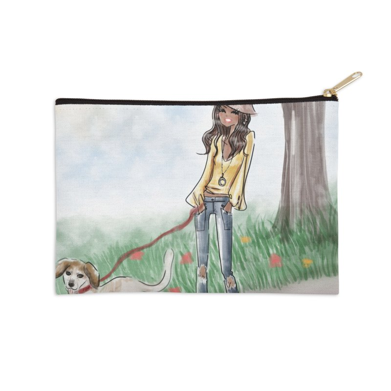 A walk in the Park Accessories Zip Pouch by deannakei's Artist Shop