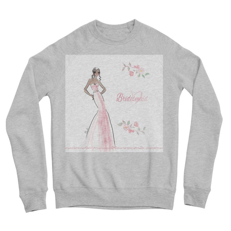 Bridesmaid - Pink Dress - 1 Women's Sponge Fleece Sweatshirt by Deanna Kei's Artist Shop