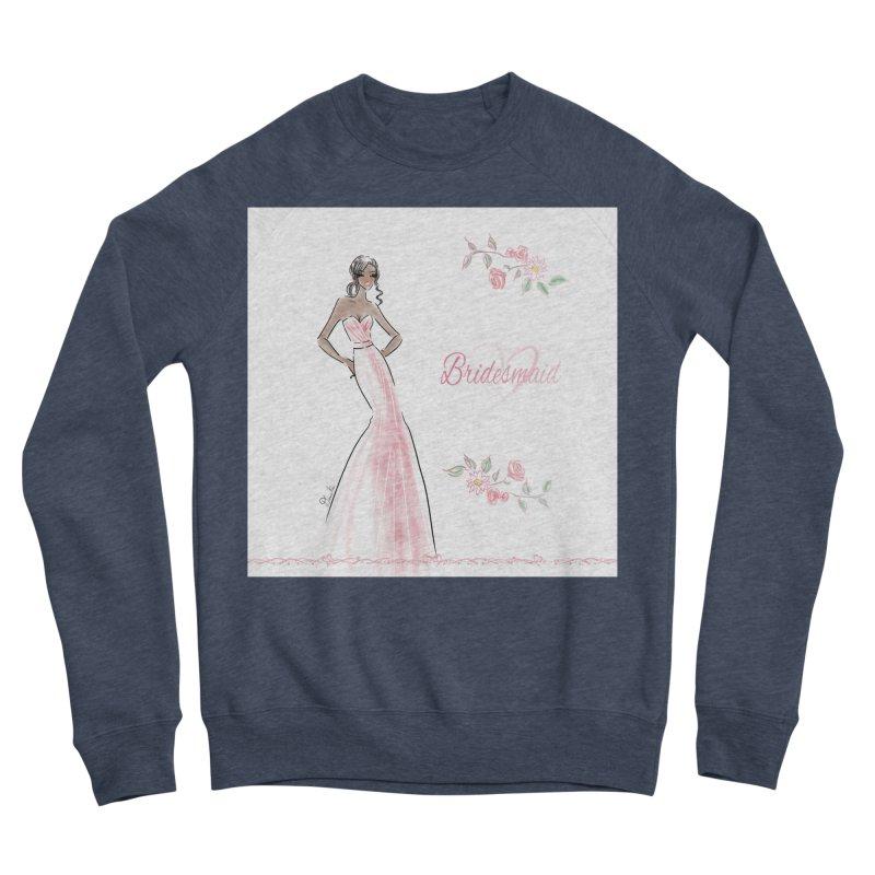 Bridesmaid - Pink Dress - 1 Women's Sponge Fleece Sweatshirt by Deanna Kei's Artist Shop