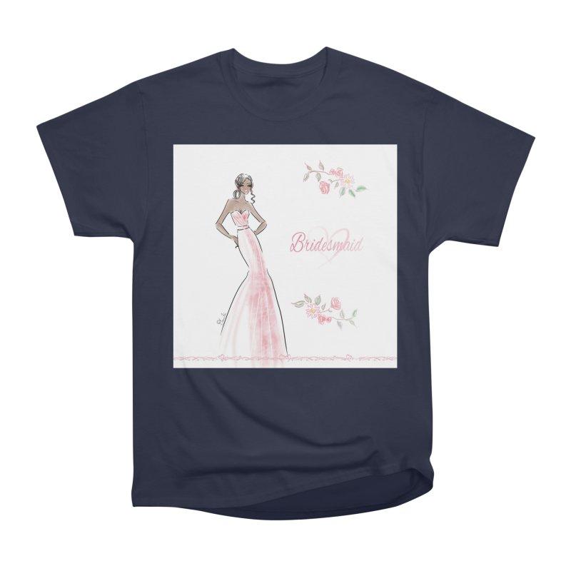 Bridesmaid - Pink Dress - 1 Women's Heavyweight Unisex T-Shirt by Deanna Kei's Artist Shop