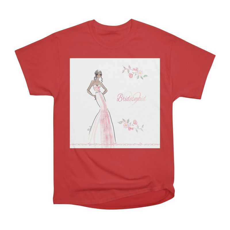 Bridesmaid - Pink Dress - 1 Women's T-Shirt by Deanna Kei's Artist Shop