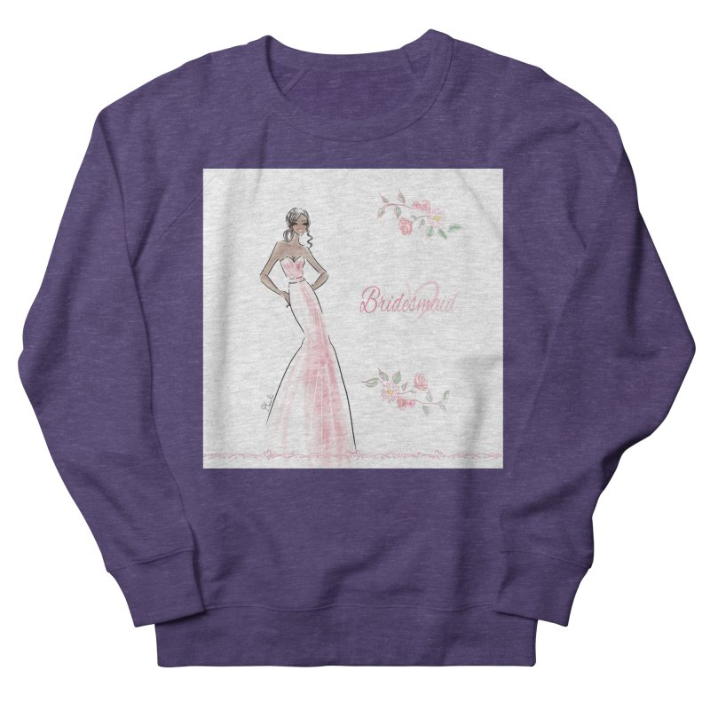 Bridesmaid - Pink Dress - 1 Women's French Terry Sweatshirt by Deanna Kei's Artist Shop