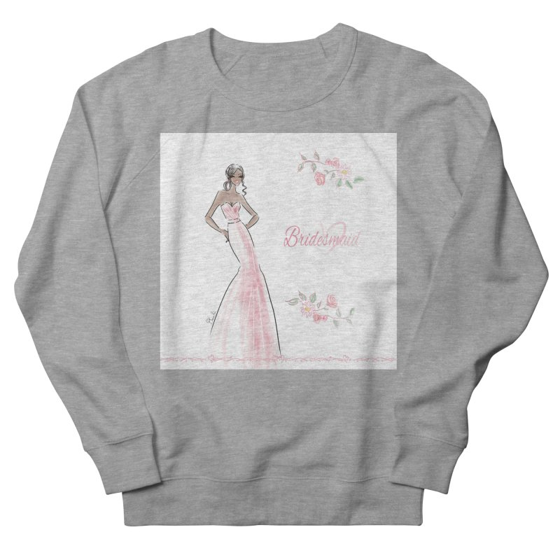 Bridesmaid - Pink Dress - 1 Women's French Terry Sweatshirt by Deanna Kei's Artist Shop