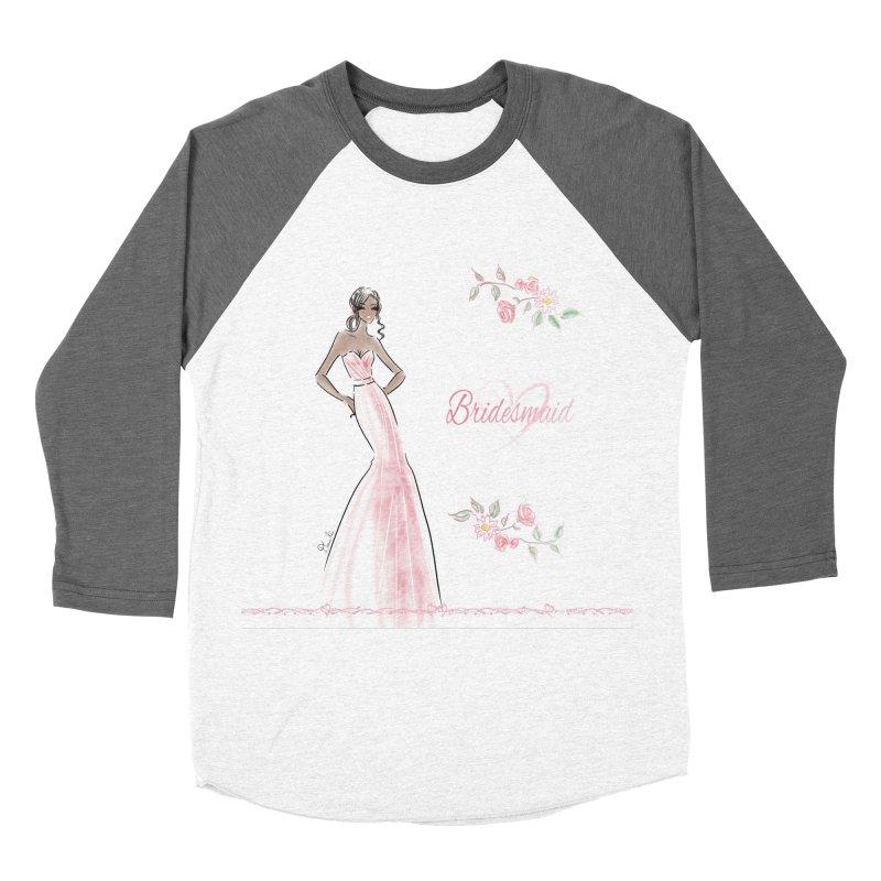Bridesmaid - Pink Dress - 1 Women's Longsleeve T-Shirt by Deanna Kei's Artist Shop