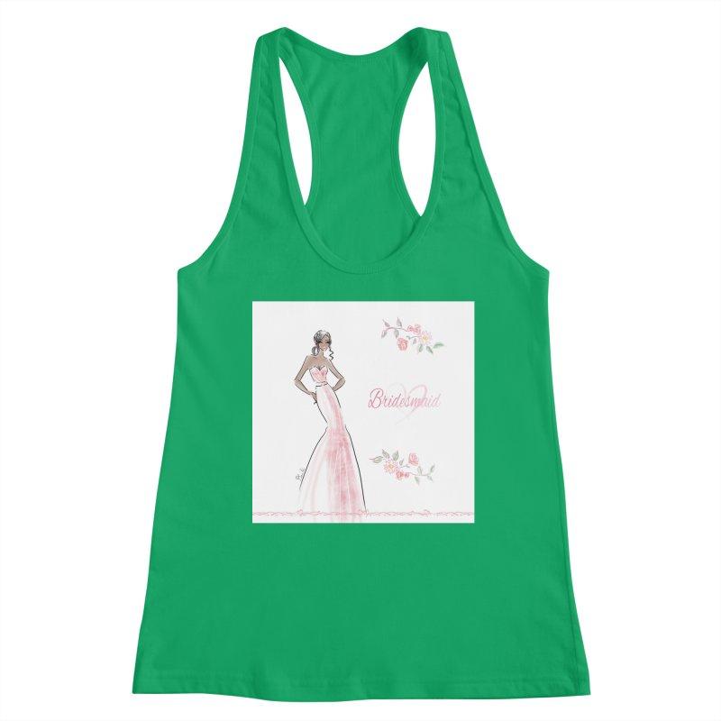Bridesmaid - Pink Dress - 1 Women's Tank by Deanna Kei's Artist Shop