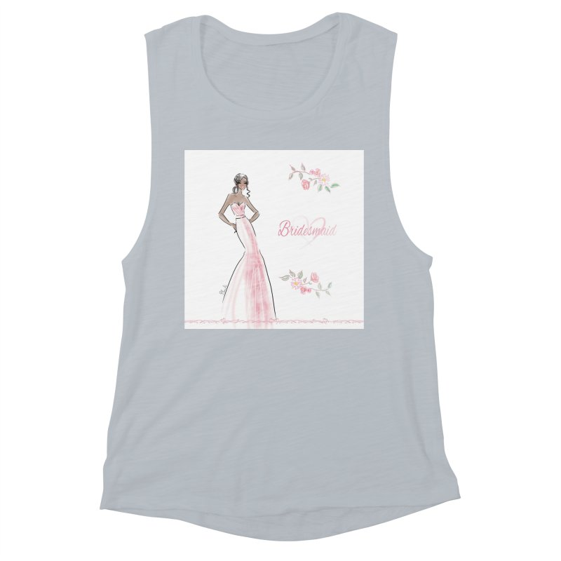 Bridesmaid - Pink Dress - 1 Women's Muscle Tank by Deanna Kei's Artist Shop