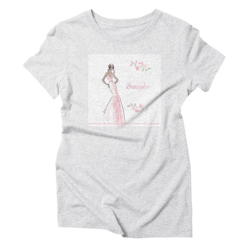 Bridesmaid - Pink Dress - 1 Women's T-Shirt by Deanna Kei's Artist Shop