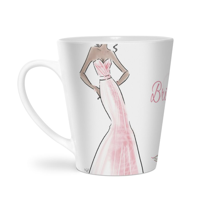 Bridesmaid - Pink Dress - 1 Accessories Latte Mug by deannakei's Artist Shop